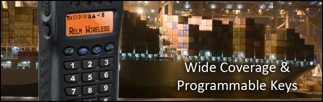 Relm RP6500 Handheld BK Radio